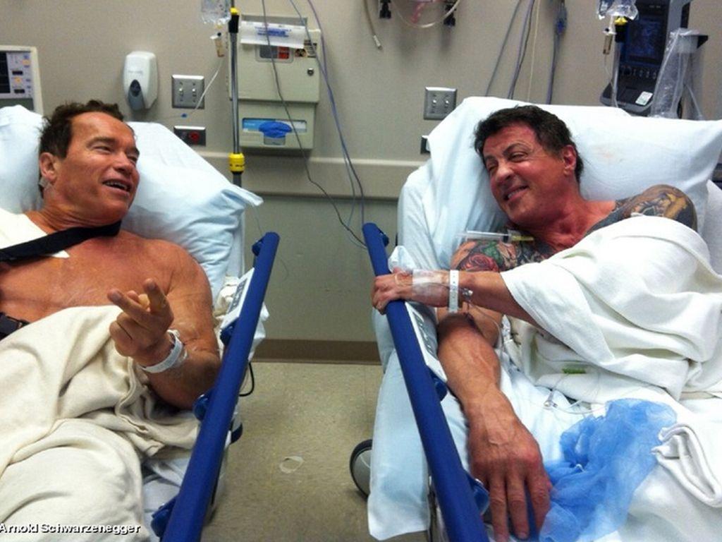 Arnold Schwarznegger und Sylvester Stallone
