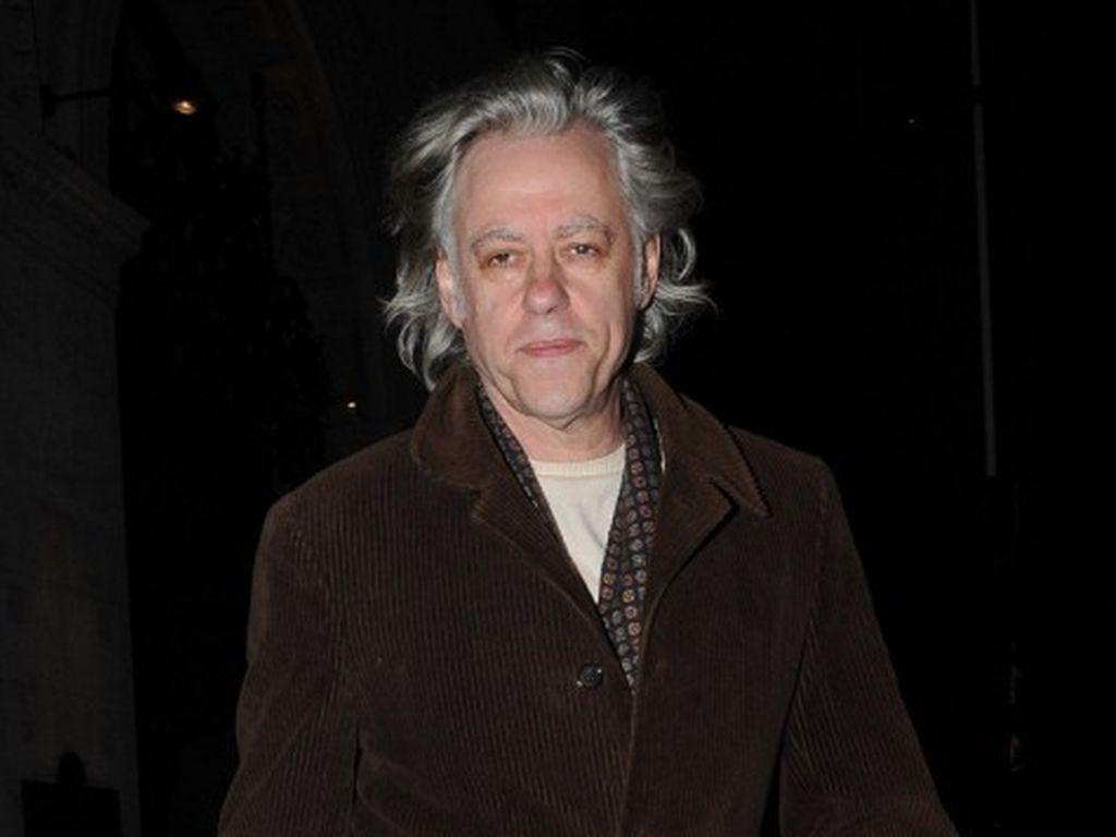 Bob Geldof in brauner Cordjacke