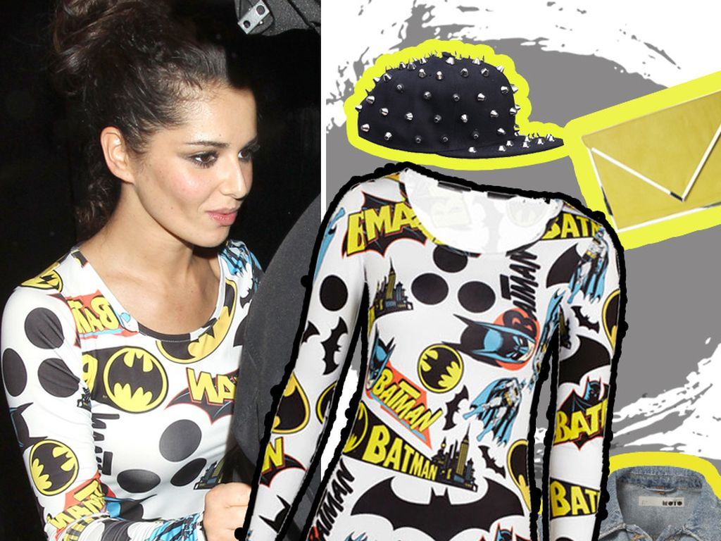 Cheryl Cole mit ihrem Outfit auf Schwarz