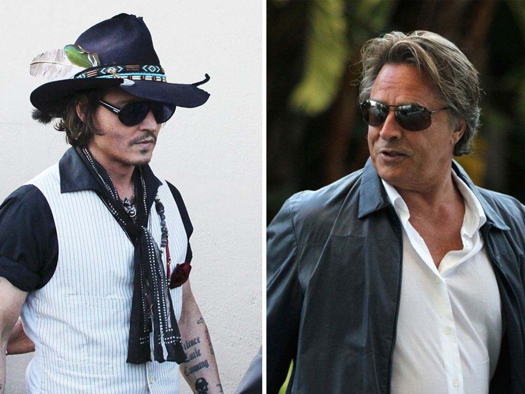 Johnny Depp und Don Johnson