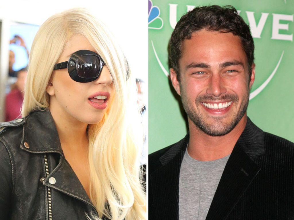 Lady GaGa mit Sonnenbrille und Taylor Kinney