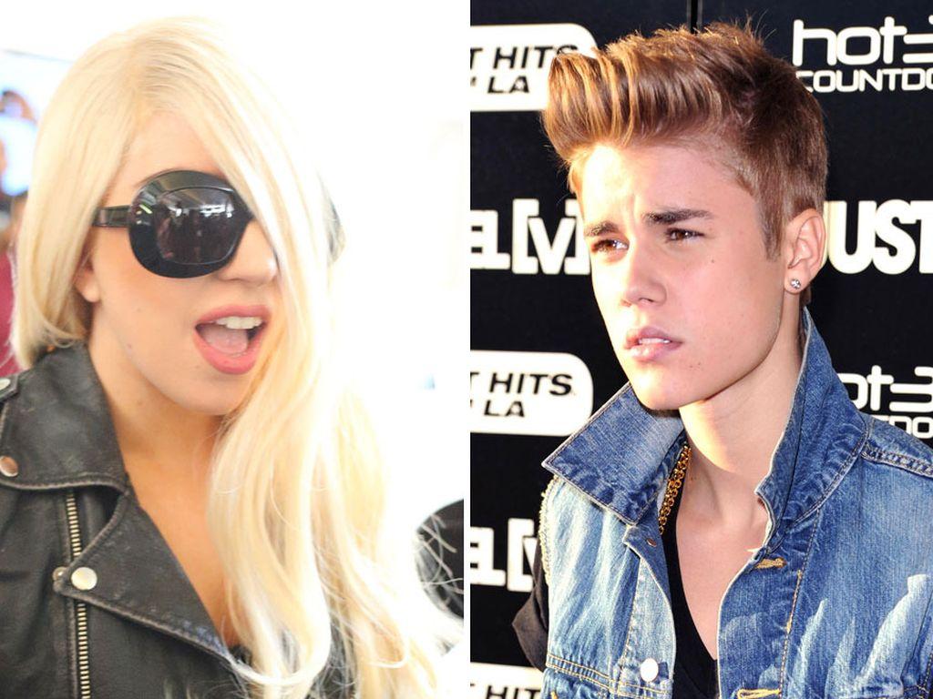 Lady GaGa und Justin Bieber