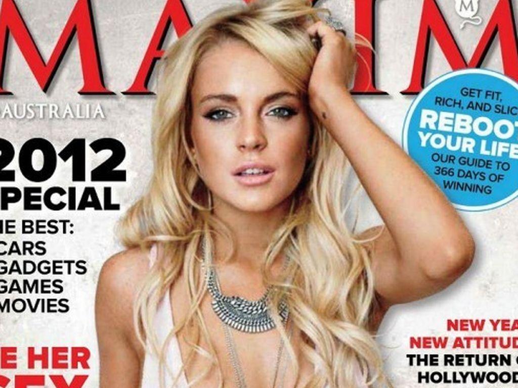 Lindsay Lohan nackt an der Schnur
