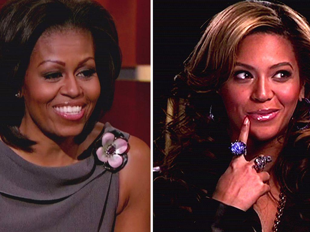 Michelle Obama & Beyonce nachdenklich
