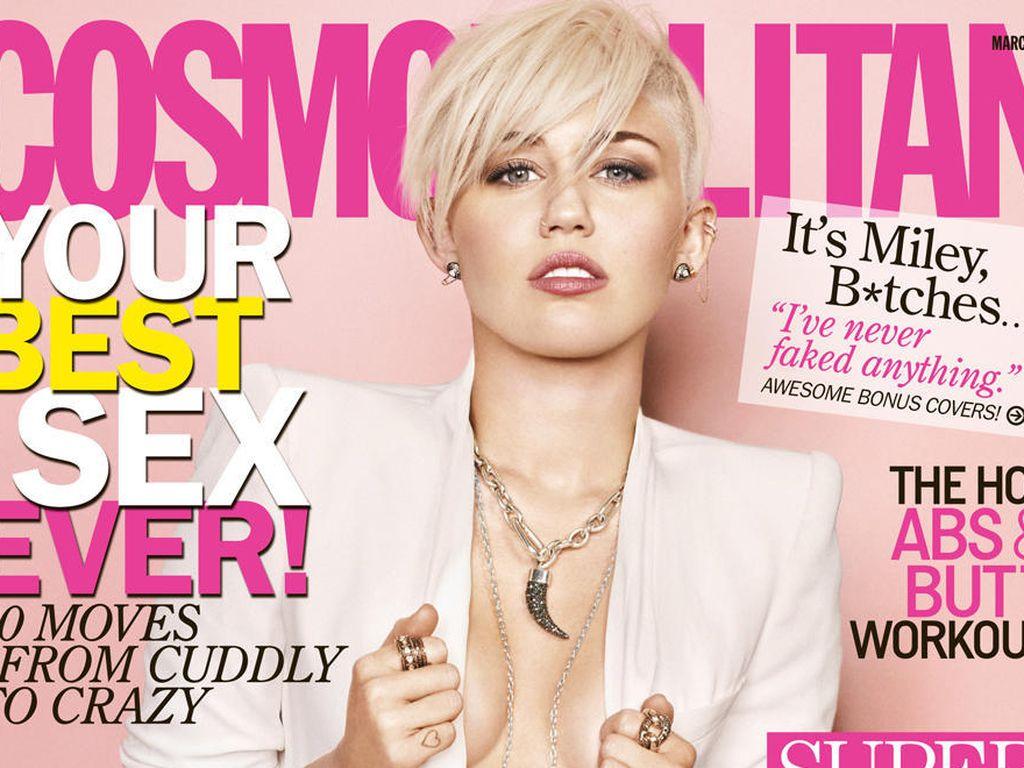 Miley auf dem Cosmo-Cover