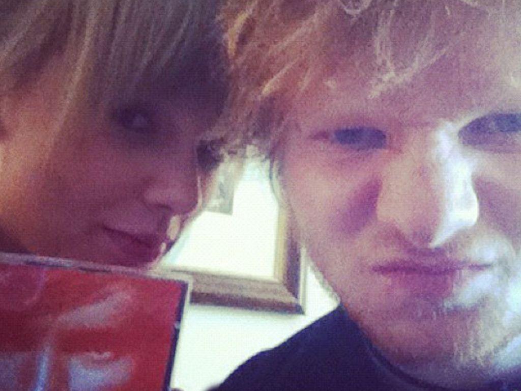 Taylor Swift und Ed Sheeran zusammen auf einem Schnappschuss