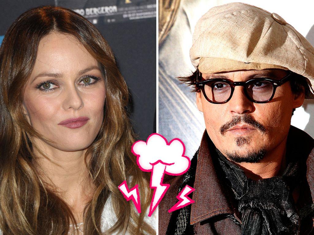 Vanessa Paradis und Johnny Depp mit Streitwolke