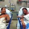 Arnold Schwarznegger und Sylvester Stallone trafen sich zufällig im Krankenhaus