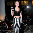 Miley Cyrus mag's gestreift