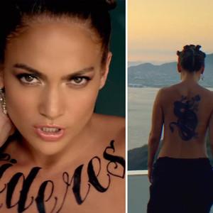 Jennifer Lopez Tattoos on Newsticker Wow Sexy Jennifer Lopez Mit Riesigen Tattoos