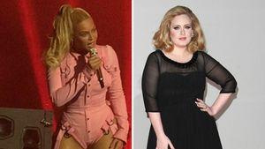 Adele und Beyonce in einer Collage