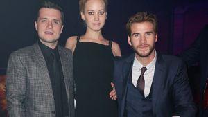 Aftershow-Party von Mockinjay Jennifer Lawrence, Josh und Liam