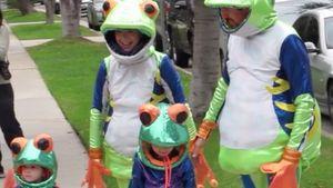 Alyson Hannigan und ihre Familie als Frösche