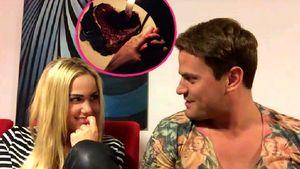 Angelina Heger und Rocco Stark Collage mit Kuchen