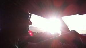 Cory Monteith beim Autofahren