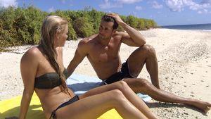 Der Bachelor und Daniela am Strand