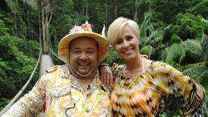 Dirk Bach und Sonja Zietlow auf der Hängebrücke im Dschungel