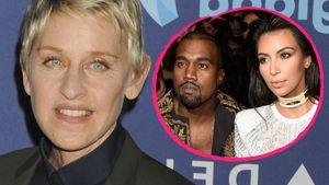 Ellen DeGeneres, Kim Kardashian und Kanye West Collage