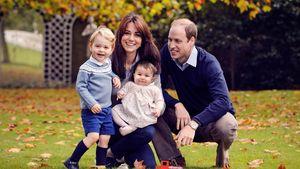 Familienfoto von Prinz George, Herzogin Kate, Prinzessin Charlotte und Prinz William