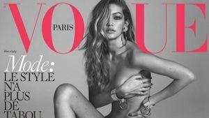 Gigi Hadid nackt auf dem Vogue-Cover