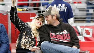 Gwen Stefani und Blake Shelton bei Football-Spiel