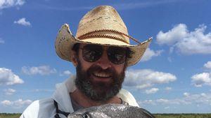 Hugh Jackman fängt einen fetten Fisch
