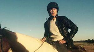Ian Somerhalder auf einem Pferd