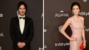 Ian Somerhalder und Nina Dobrev bei einer Golden Globes Aftershowparty