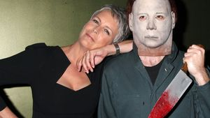 Jamie Lee Curtis und Michael Myers auf Red Carpet