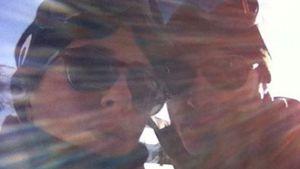 Jennifer Aniston und Justin Theroux als Schneehasen