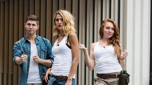 Joey Heindle, Fiona Erdmann, Georgina Fleur beim Sommerdschungelcamp