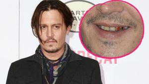 Johnny Depp Collage mit seinen Ekel-Zähnen