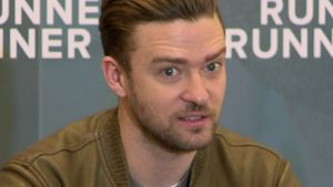 Justin Timberlake bei einer PK in Berlin