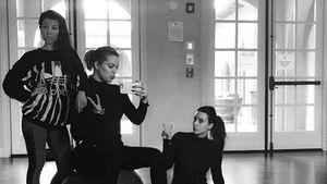 Kourtney, Khloe und Kim Kardashian im Fitness-Studio