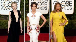 Kristen Dunst, Eva Longoria und Jennifer Lopez bei den Golden Globes