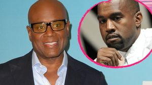 L.A. Reid und Kanye West Collage