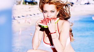 Lindsay Lohan isst Melone