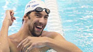 Michael Phelps im Wasser