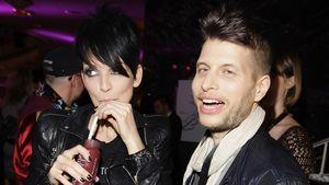 Nena mit einem Drink neben Freund Philipp Palm