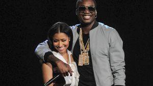 Nicki Minaj mit Meek Mill auf der Bühne