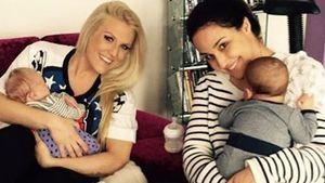 Nina Moghaddam und Natalie Horler mit ihren Babys