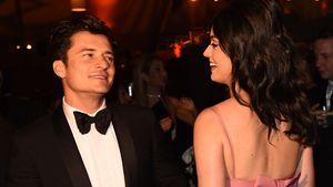 Orlando Bloom und Katy Perry unterhalten sich