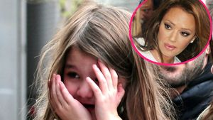 Suri Cruise und Leah Remini in einer Collage