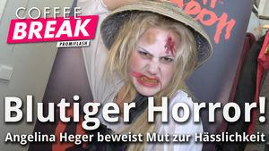 Thumbnail Angelina Heger gruselig gestylt