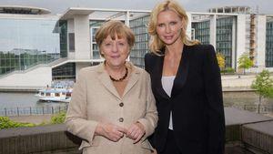 Veronica Ferres mit Bundeskanzlerin Angela Merkel