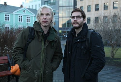 Benedict Cumberbatch und Daniel Brühl in The Fifth Estate