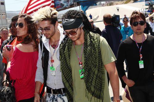 Bill Kaulitz, Tom Kaulitz - Bill und Tom besuchten am Wochenende ein Sportevent