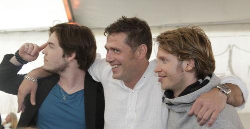 Björn, Frederic und Bernhard schauen gerne EM-Spiele