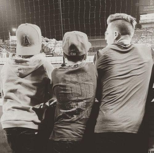 Cooles Trio: Brooklyn, Cruz und Romeo Beckham beim Baseball-Spiel