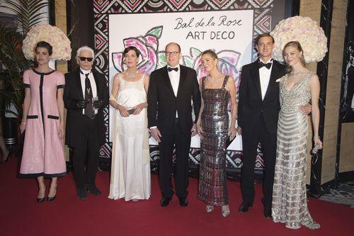 Der monegassische Adel versammelte sich wie in jedem Jahr am Wochenende beim Rosenball